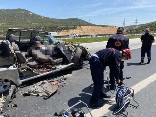 Kahramanmaraşta trafik kazası: 1 ölü, 2 yaralı