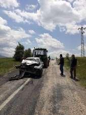 Aracın hurdaya döndüğü kazada bir kişi yaralandı