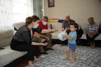Başkan Çalkaya, şehit babalarını yalnız bırakmadı