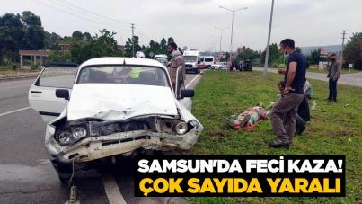 Samsun'da feci kaza! Çok sayıda yaralı
