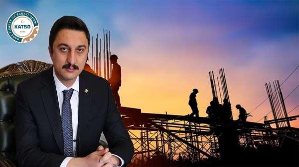 Başkan Alibeyoğlu: Faiz ve malzeme fiyat artışı inşaat sektörünü vurdu