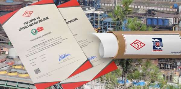 KARDEMİR'e 'TSE Covid-19 Güvenli Üretim Belgesi' verildi