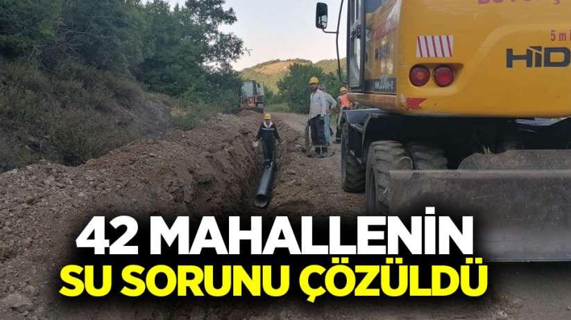 Samsun'da 42 mahallenin su sorunu çözüldü
