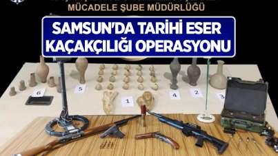 Samsun'da tarihi eser kaçakçılığı operasyonu: 13 gözaltı