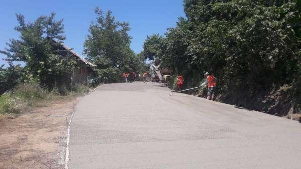 Fatsanın mahallelerine beton yol konforu