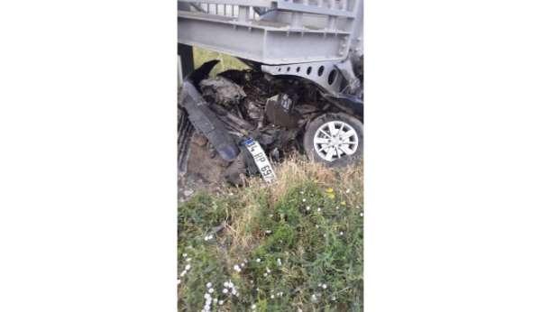 Iğdırda trafik kazası: 1 yaralı