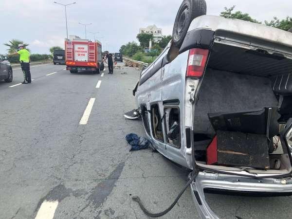 Rizede trafik kazası: 1 yaralı