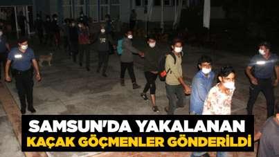 Samsun'da yakalanan kaçak göçmenler gönderildi