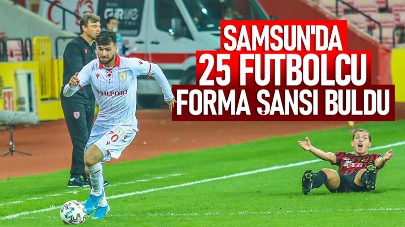 Samsun'da 25 futbolcu forma şansı buldu