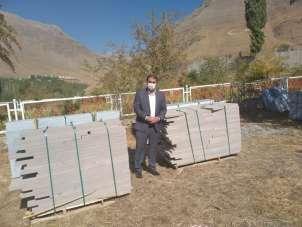 İscehisar'dan Sündüz Şehitliği için 22 ton mermer