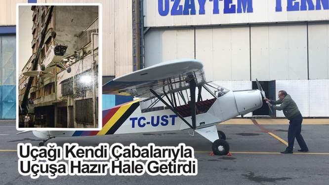 Uçağı Kendi Çabalarıyla Uçuşa Hazır Hale Getirdi