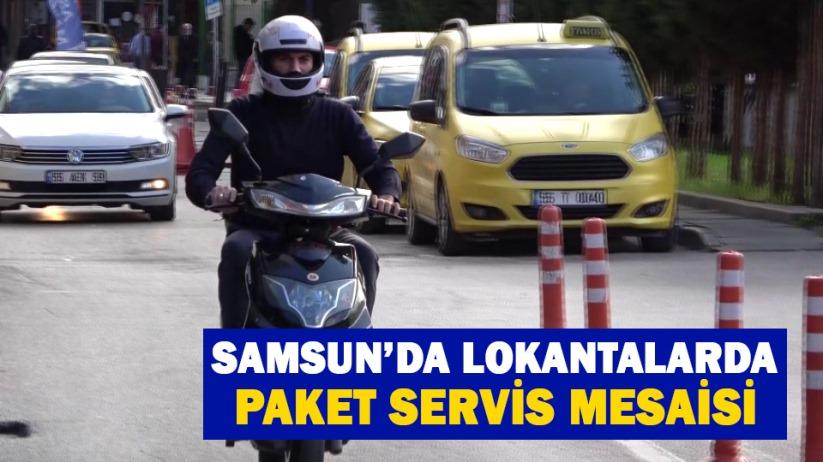 Samsun'da lokantalar paket satışı yapmaya başladı