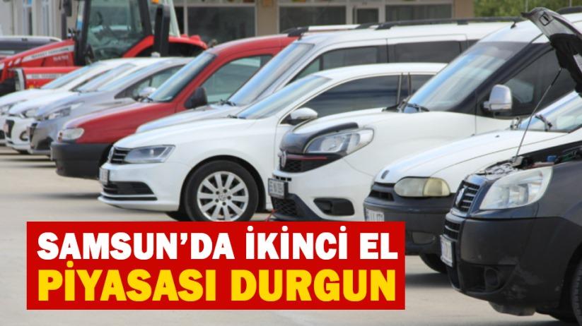 Samsunda ikinci el araç satışları durdu