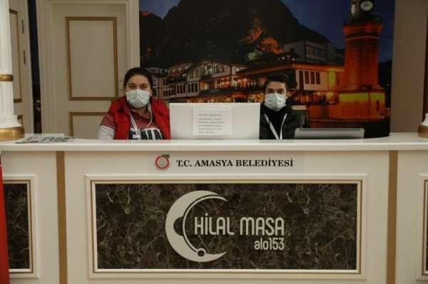 Amasya Belediyesi 'Hilal Masa' ile çözüm üretmeyi sürdürüyor