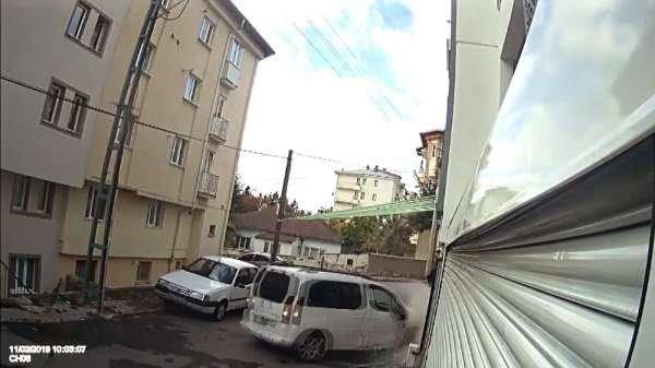 İlginç kaza güvenlik kamerasında