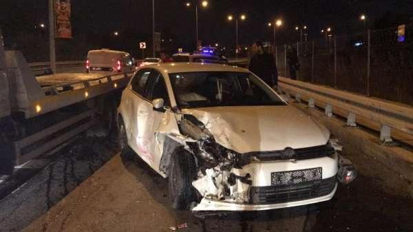 Kağıthane'de zincirleme trafik kazası: 1 yaralı