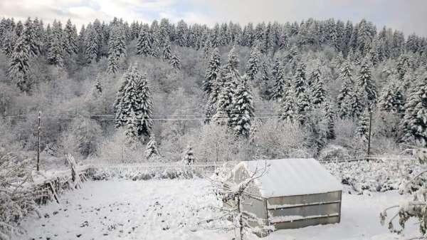 Ordu'ya mevsimin ilk karı yağdı