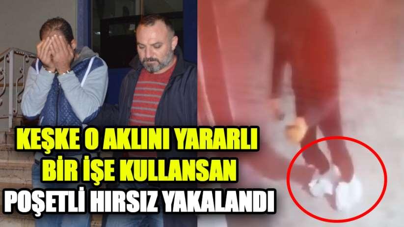 Samsun'da poşetli telefon hırsızı yakalandı