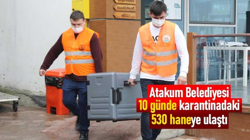 Atakum Belediyesi 10 günde karantinadaki 530 haneye ulaştı