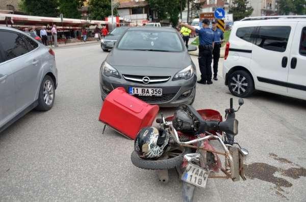 Bilecik'te zincirleme trafik kazası;1 yaralı