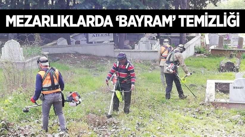 Samsun'da mezarlıklarda 'Bayram' temizliği