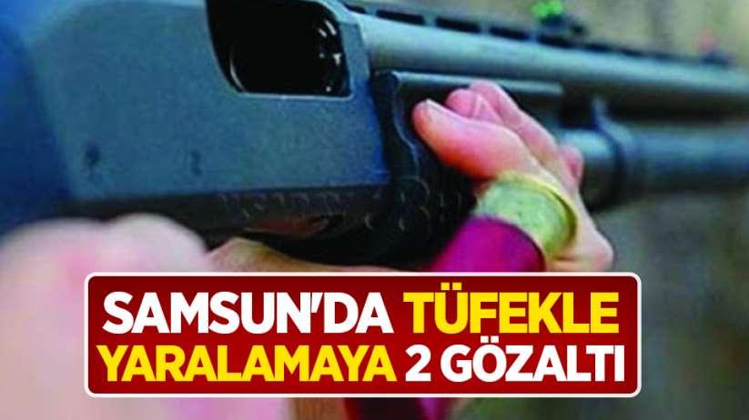 Samsun'da tüfekle yaralamaya 2 gözaltı
