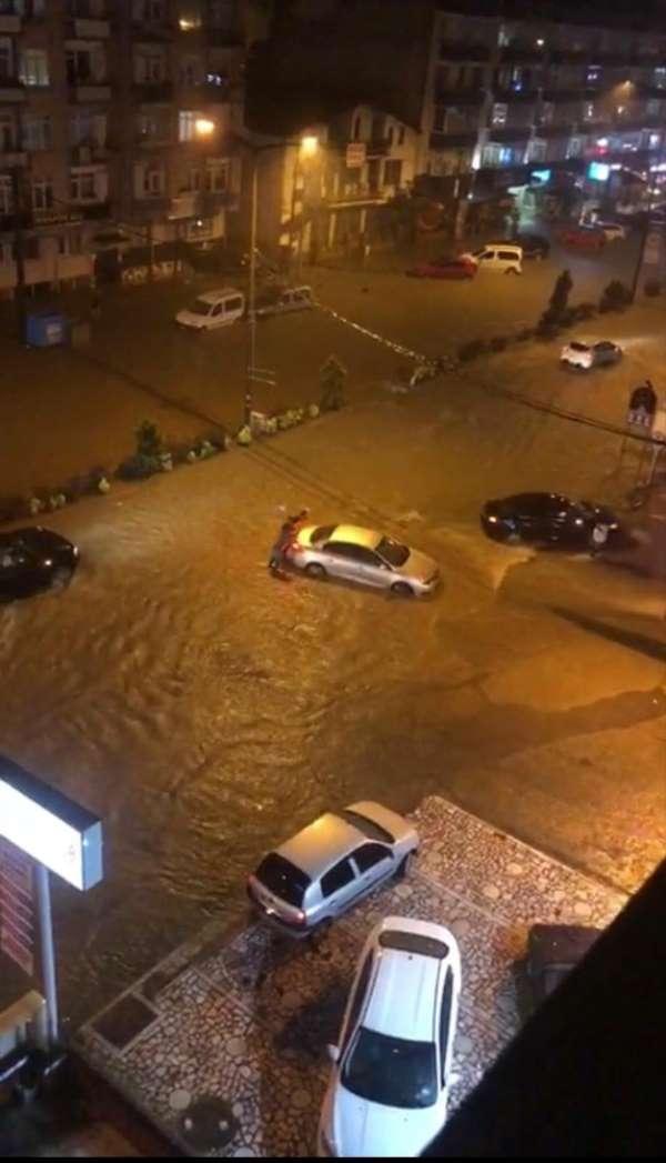 Trabzon'da şiddetli yağış