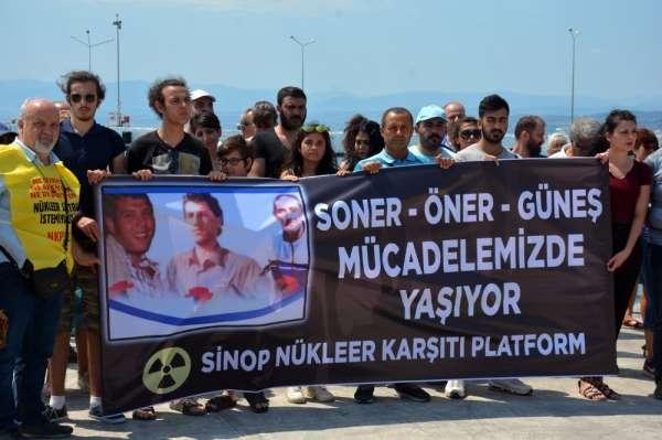 Sinop'ta boğularak ölen Soner, Öner ve Güneş anıldı