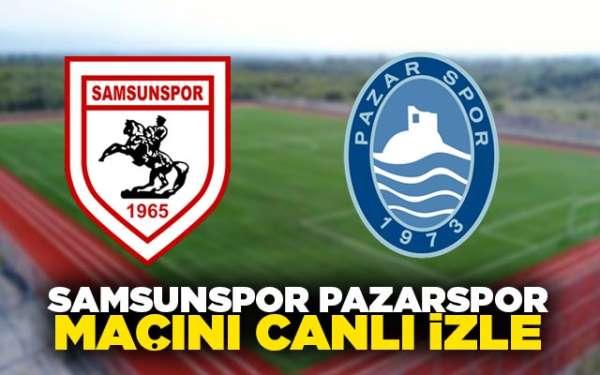 Samsunspor Pazarspor hazırlık karşılaşması canlı olarak Samsun son Haber'de