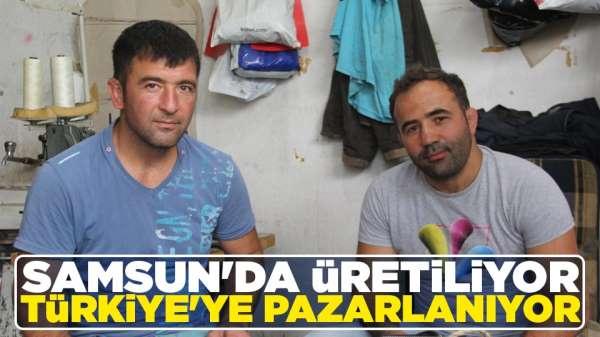 Samsun'da üretiliyor Türkiye'ye pazarlanıyor