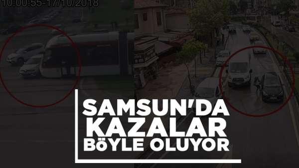 Samsun haber: Samsun'da trafik kazaları kameralara yansıdı