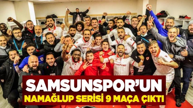 Samsunspor'un namağlup serisi 9 maça çıktı