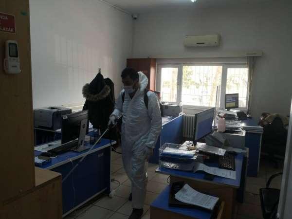 Bafra belediyesi dezenfeksiyon çalışmalarına devam ediyor