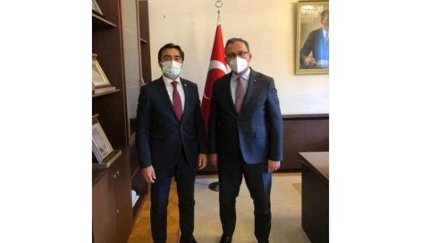 Cizre TSO Başkanı Sevinç, Bakan Kasapoğluna kentin spor alanındaki sorunlarını iletti