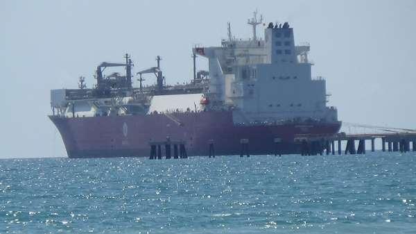 Türkiyenin ilk doğalgaz depolama gemisi Ertuğrul Gazi, Hatayda