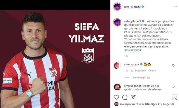 Sivassporun yeni transferi Sefa: Mahcup etmeyeceğim