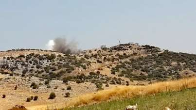 İsrail'den Lübnan'a top atışıyla saldırı