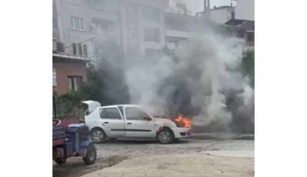 Orduda araç yangını