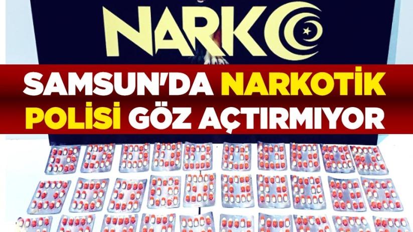 Samsun'da narkotik polisi göz açtırmıyor