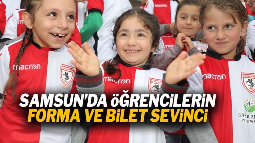 Öğrencilere Samsunspor forması ve bilet!