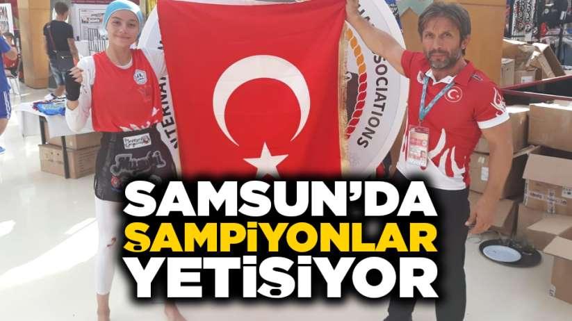 Samsun'da şampiyonlar yetişiyor