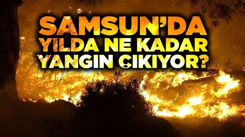 Samsun'da yılda ne kadar yangın çıkıyor?