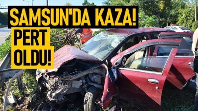 Samsun'da kazada pert oldu