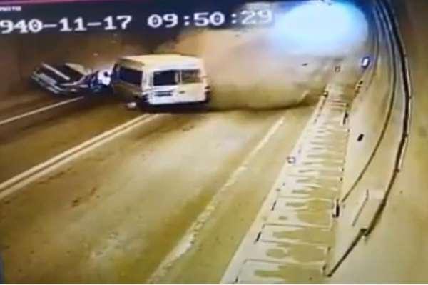 Artvin'de 1 kişinin öldüğü, 4 kişinin yaralandığı trafik kazasının görüntüleri o