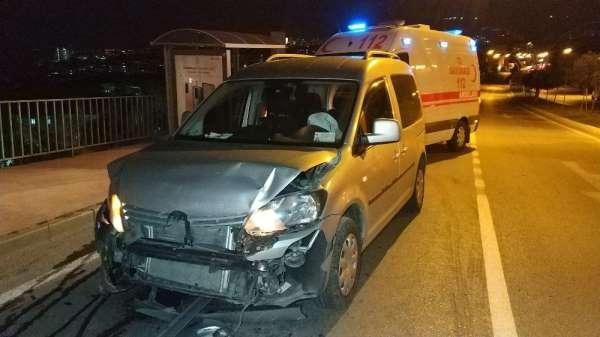 Samsun'da alkollü sürücü kırmızı ışıkta bekleyen araca çarptı: 1 yaralı