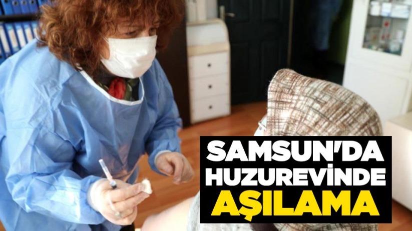 Samsun'da huzurevinde aşılama yapıldı