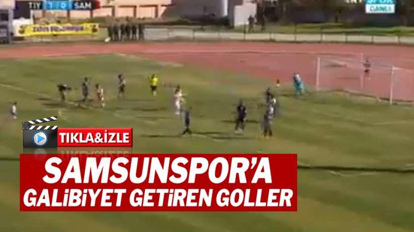 Samsunspor'a galibiyet getiren muhteşem goller!