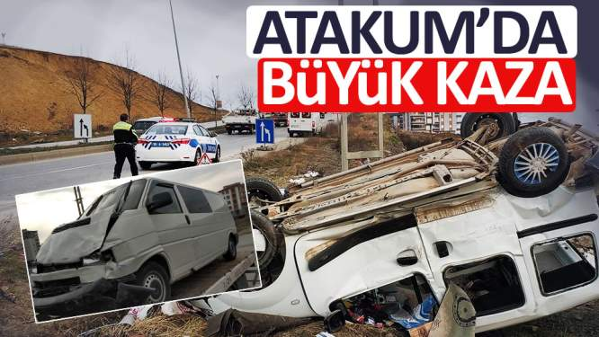 Panelvan minibüsle ticari araç çarpıştı: 4 yaralı