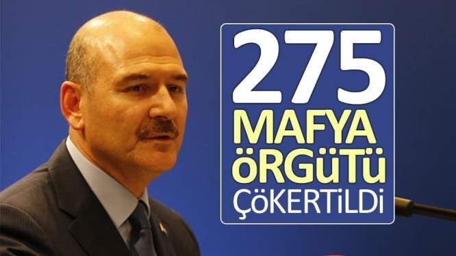 '275 mafya örgütü çökertildi'