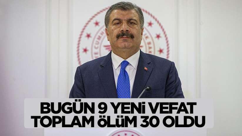 Sağlık Bakanı Koca'dan yeni korona virüs sayısı açıklaması